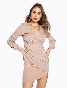 DRAPY  DRESS - wrap dresses - beige