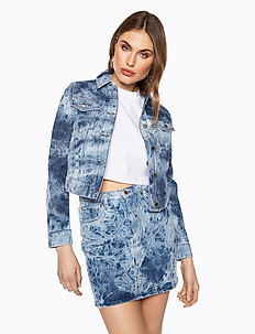 ACID WASH DENIM JACKET - vestes en jean - blue acid wash