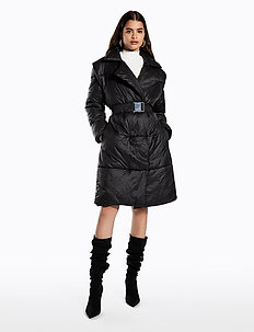 QUILTED COAT - padded coats - black