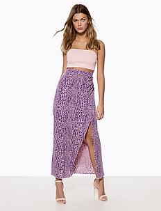 Maxi Slit Skirt - jupes midi - light pink aop