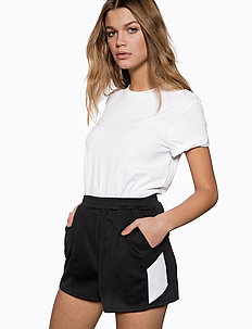 High Waist Side Panel Shorts - casual shorts - black