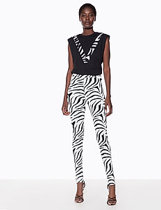 HIGH WAIST STIRRUP PANTS - leggings - zebra print