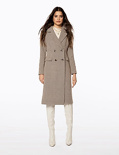 TAILORED LONG COAT - manteaux de laine - dog tooth