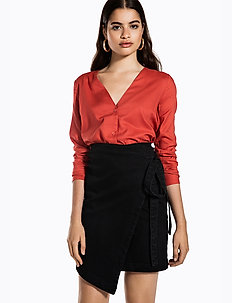 BUTTON UP SHIRT - blouses à manches longues - burnt red