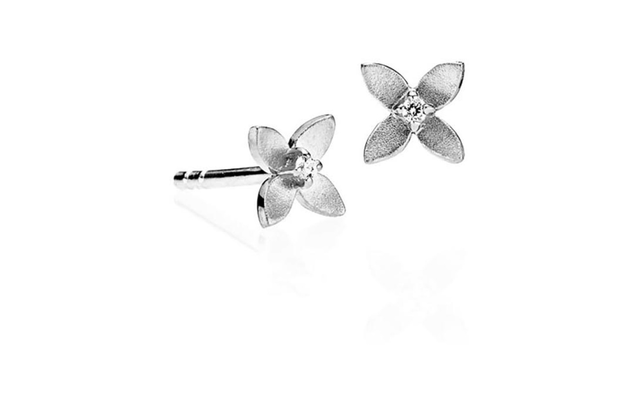 Camille Small Camille Earringsshiny Small Small SilverIzabel Clematis Clematis Clematis Earringsshiny SilverIzabel DYEHI2W9