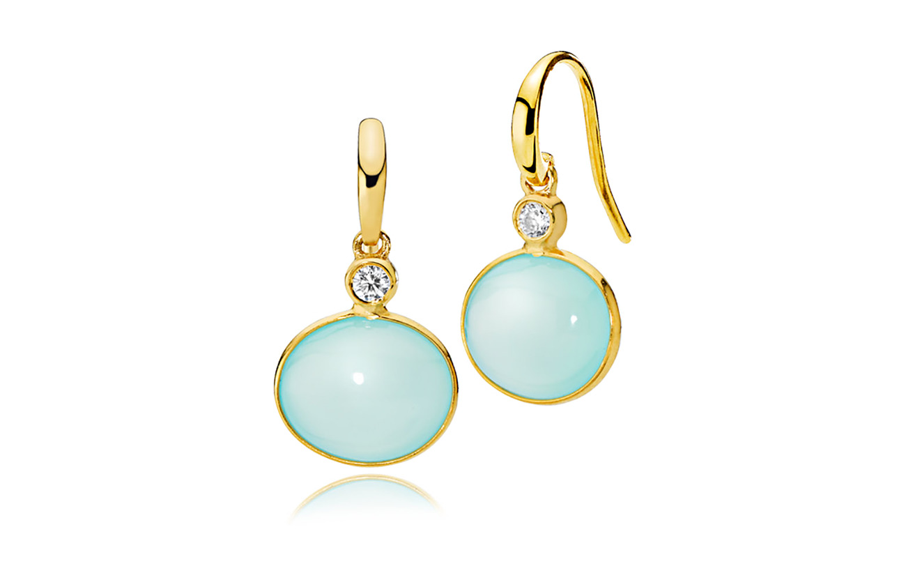 Izabel Camille Candy Earrings - SHINY GOLDE, AQUA
