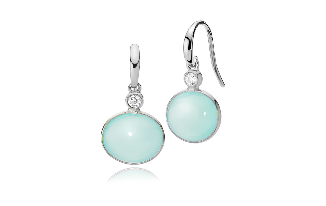Izabel Camille Candy Earrings - SHINY SILVER, AQUA