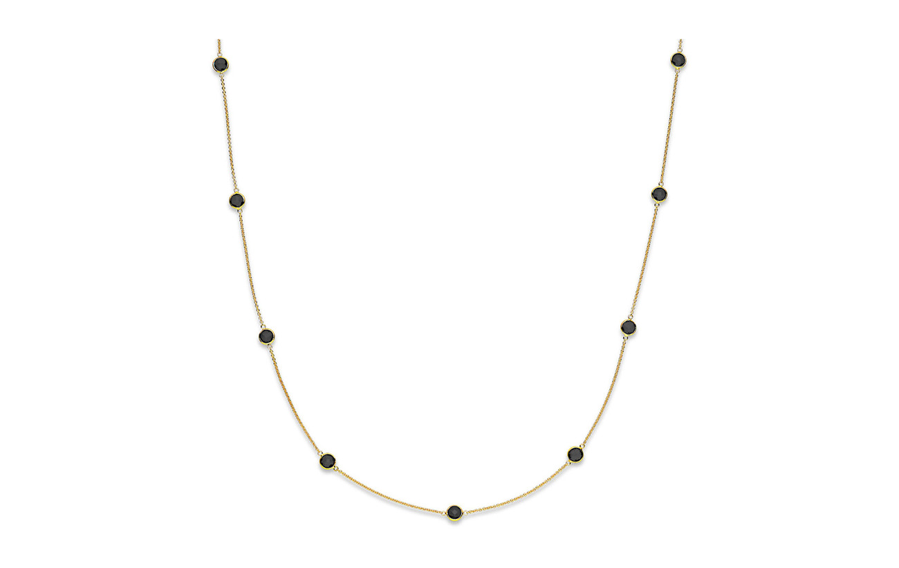 Izabel Camille Prima Donna Necklace - SHINY GOLD, BLACK