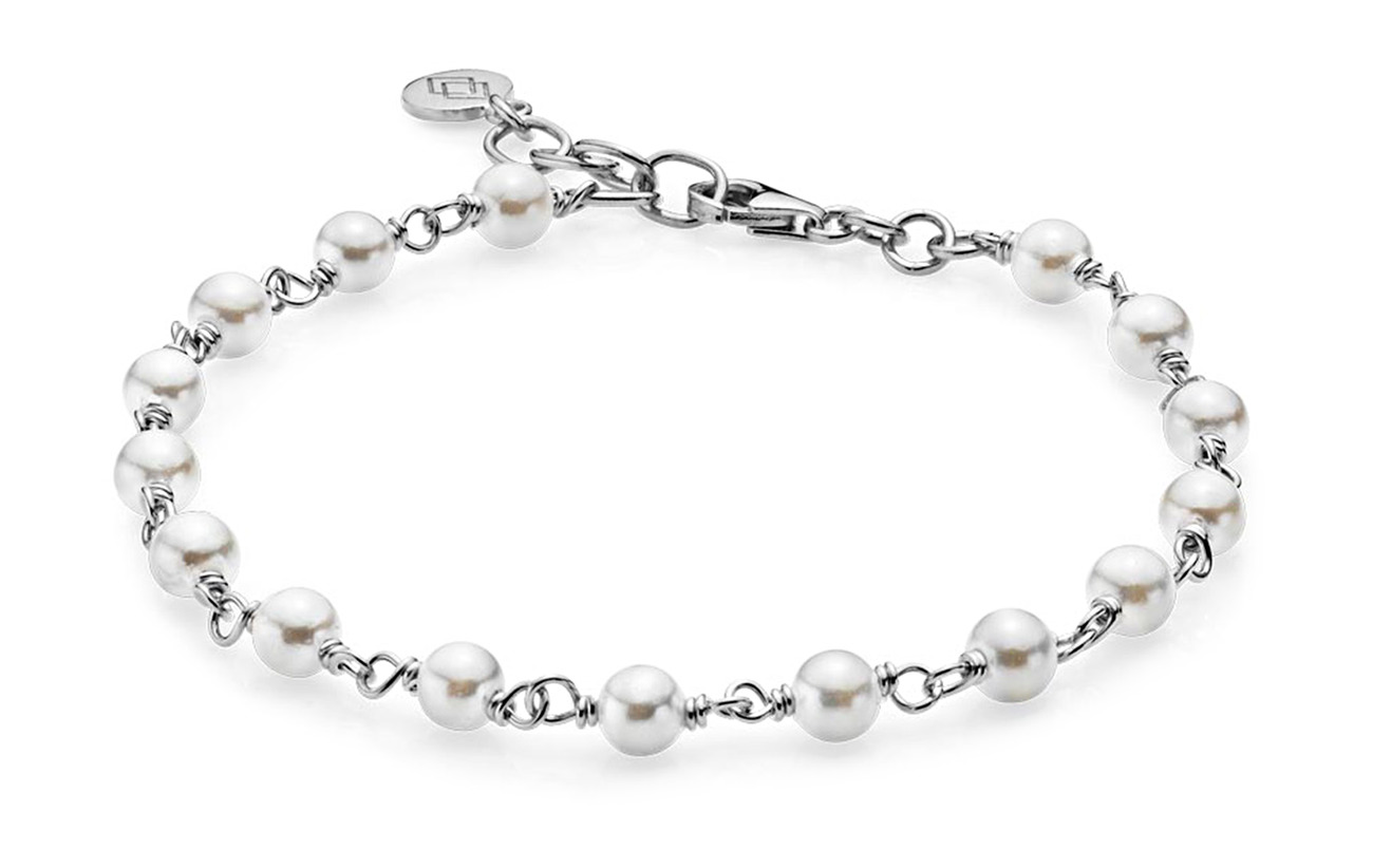 Izabel Camille Miss Pearl - SHINY SILVER, WHITE
