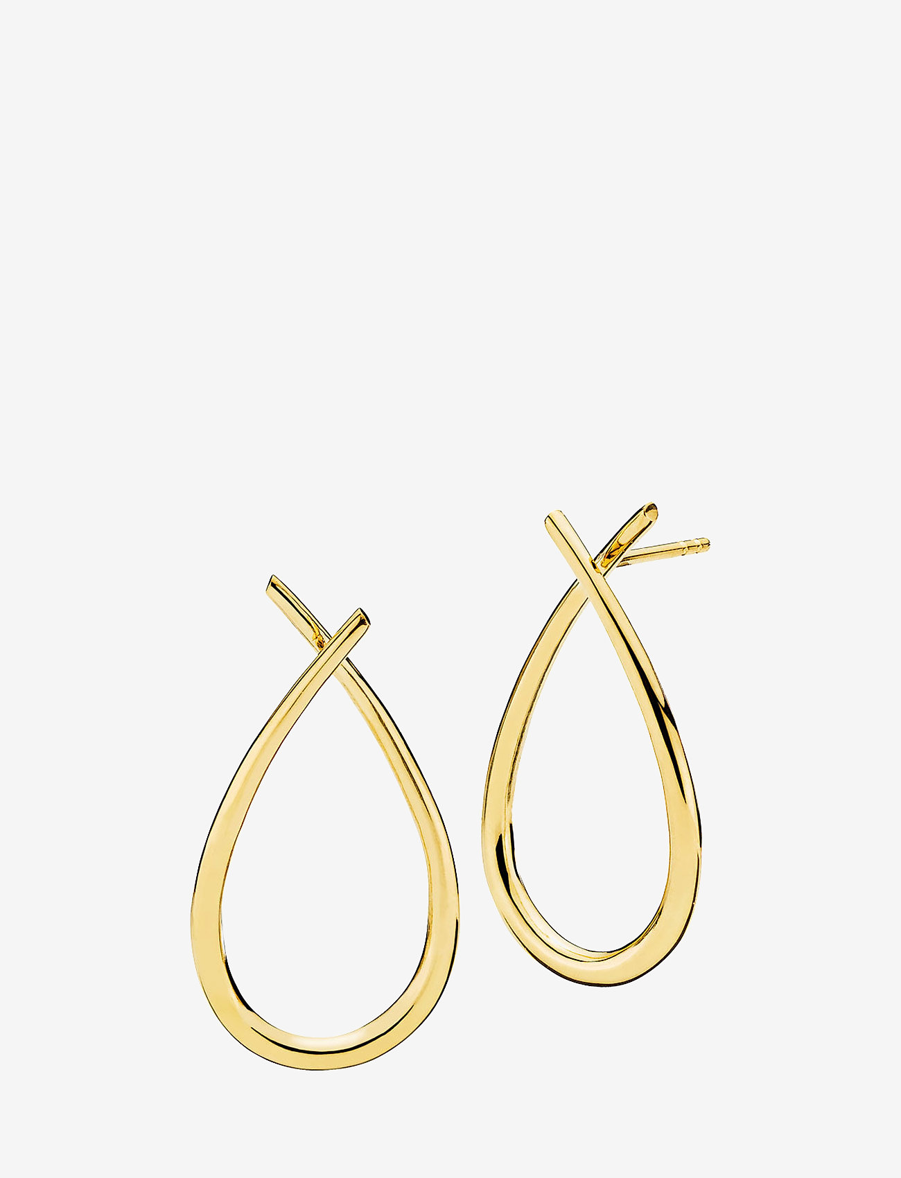 Izabel Camille - Attitude large - statement earrings - shiny gold - 0