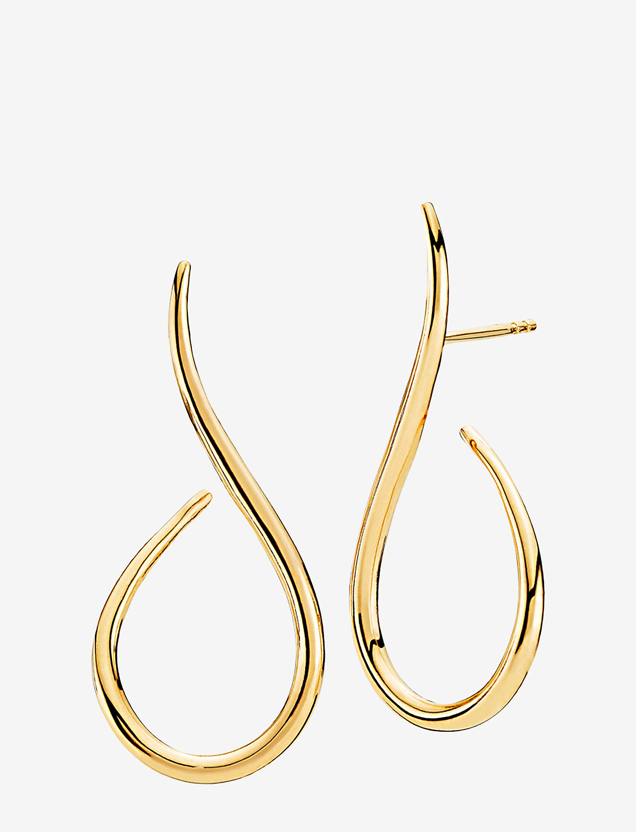 Izabel Camille - Wave - statement earrings - shiny gold - 0
