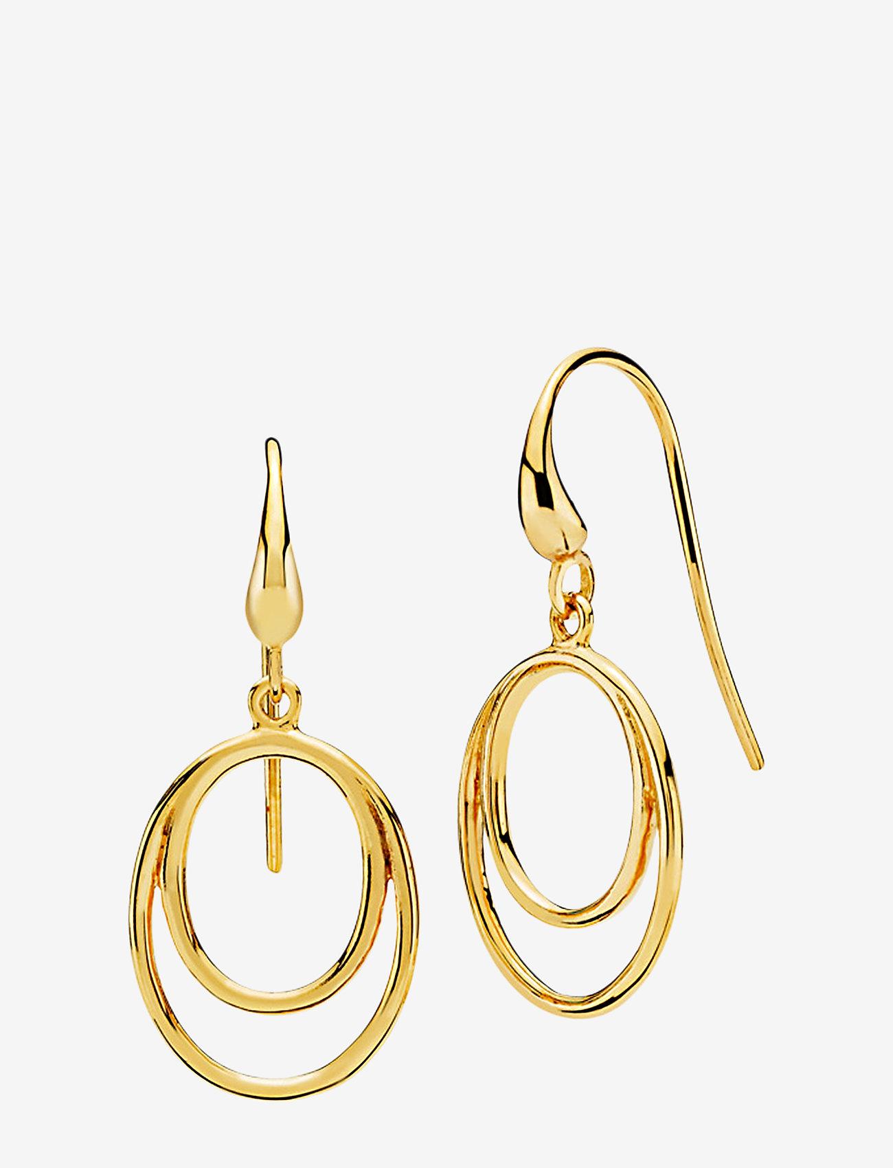 Izabel Camille - Universe - pendant earrings - shiny gold - 0