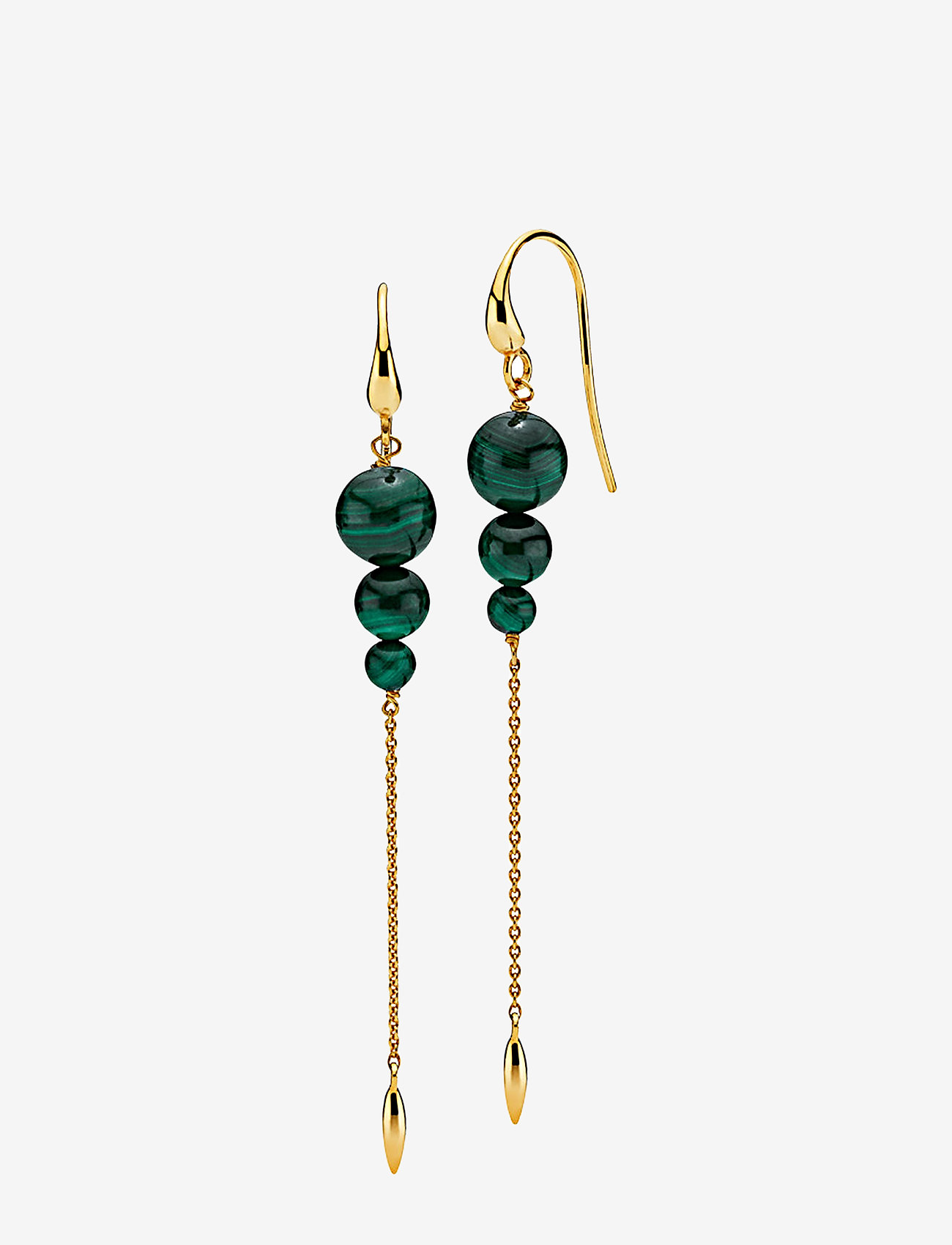 Izabel Camille - Miss Pearl - pendant - shiny gold, green - 0