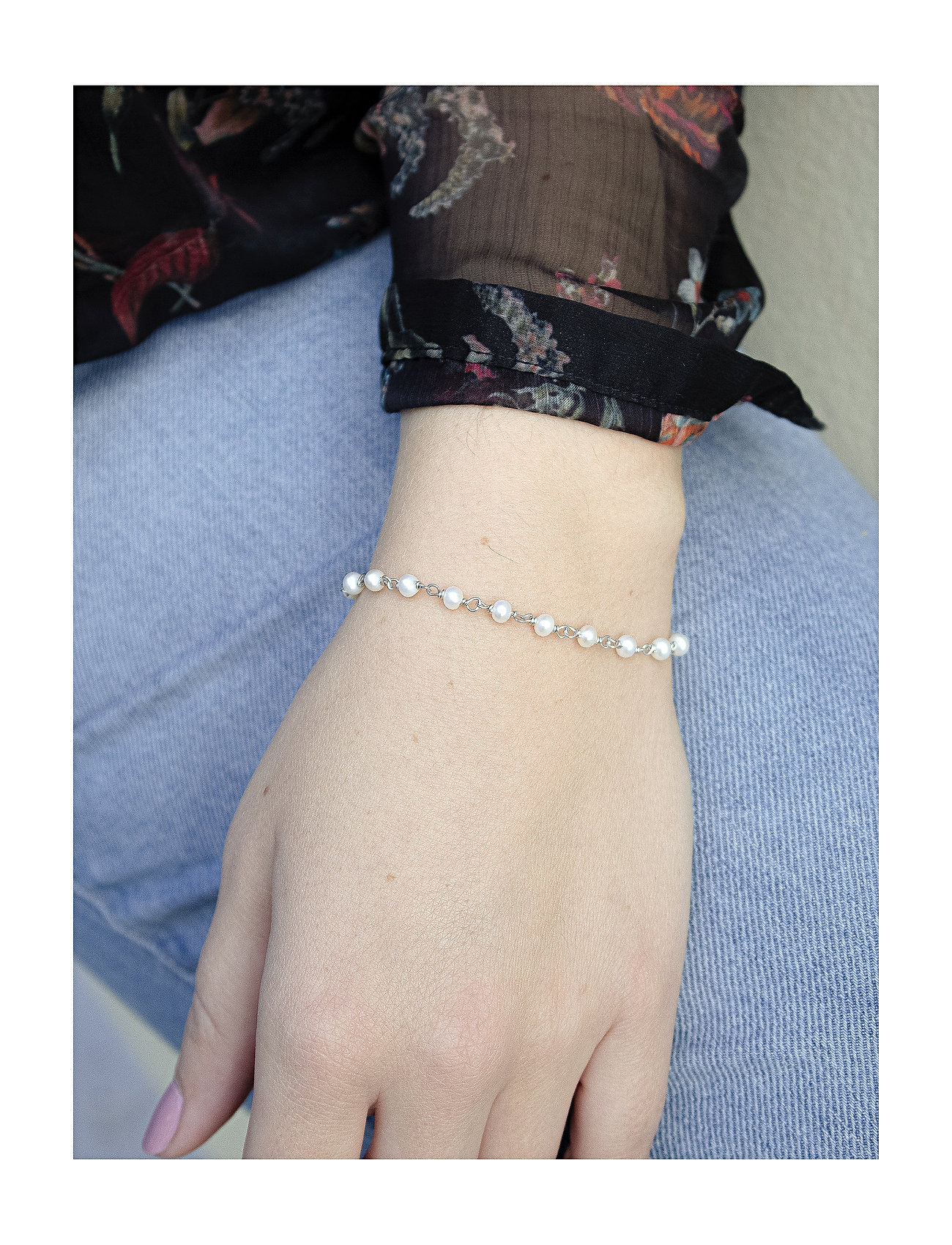 Izabel Camille - Miss Pearl - dainty - shiny silver, white - 1