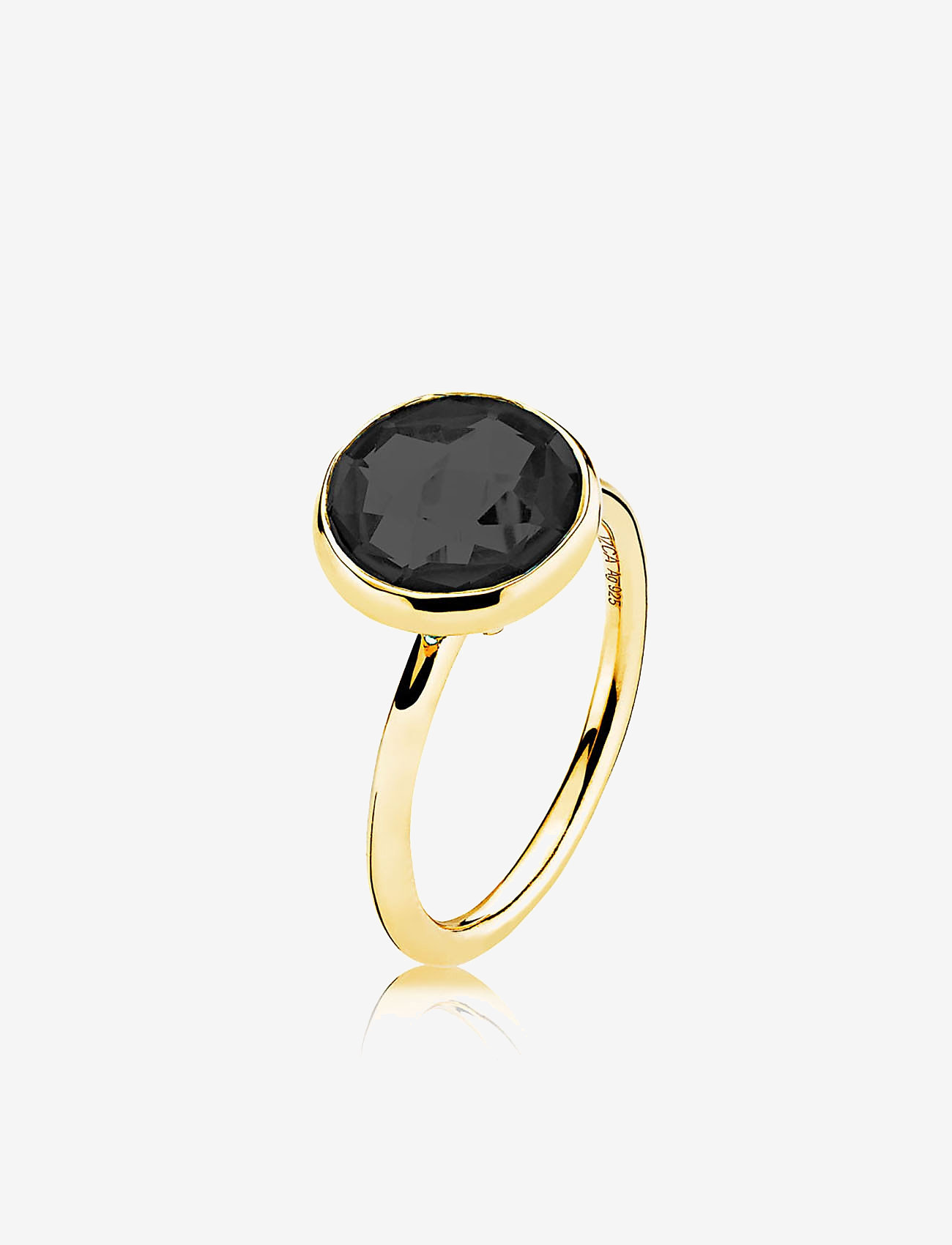 Izabel Camille - Prima Donna Ring - ringen - shiny gold, black - 0