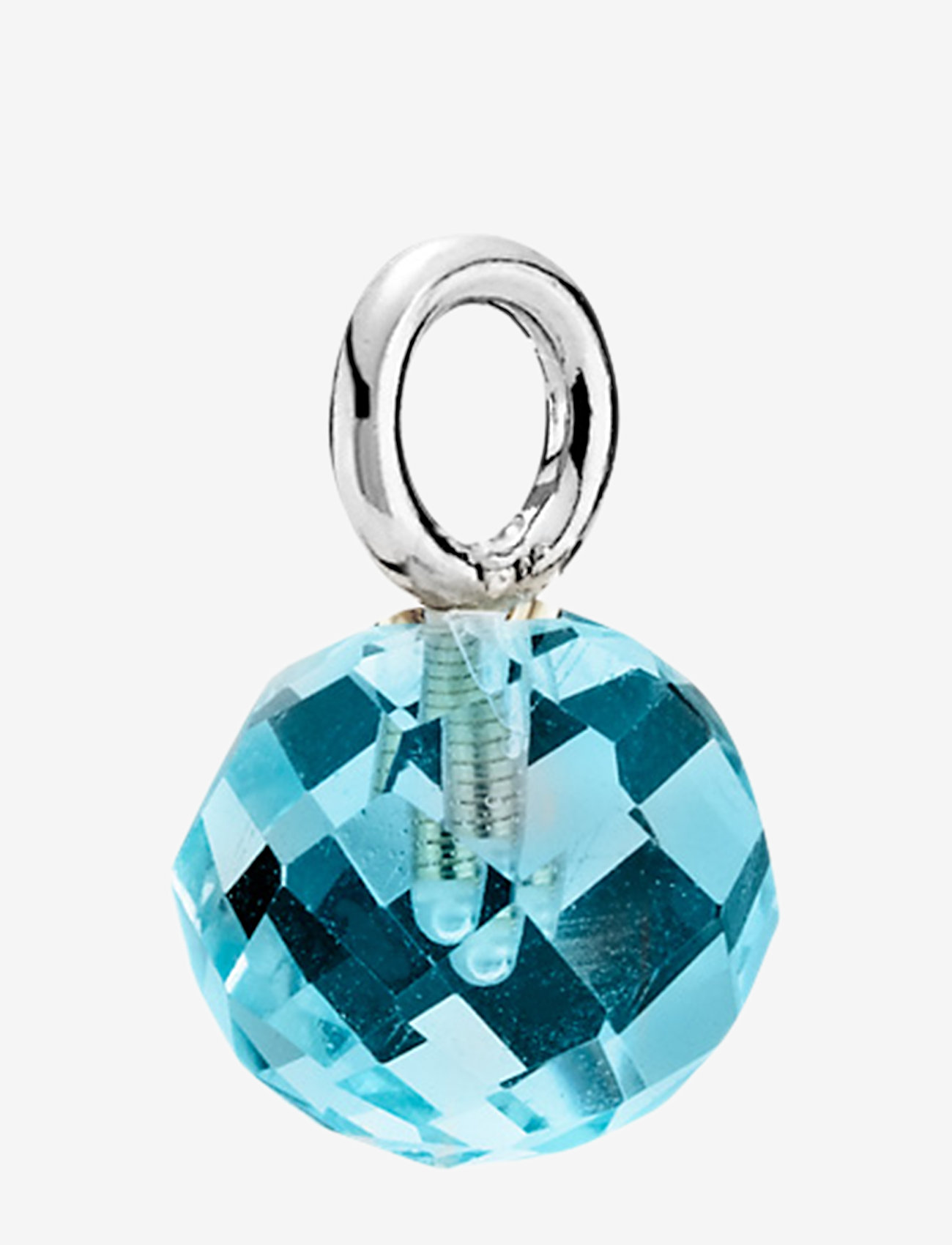 Izabel Camille - Marble - dainty - rhodium plated sterling silver, aqua
