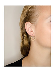 Izabel Camille - Wave - statement earrings - shiny gold - 1