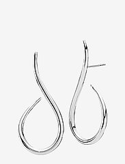 Izabel Camille - Wave - statement earrings - shiny silver - 0