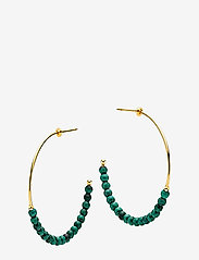Izabel Camille - Miss Pearl - cerceaux - shiny gold, green - 0