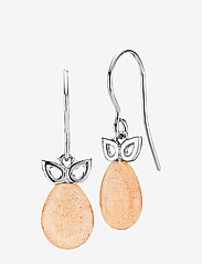 Izabel Camille - Scarlet - pendant - rhodium plated sterling silver, peach - 0