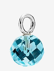Izabel Camille - Marble - dainty - rhodium plated sterling silver, aqua - 0