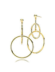 Metropol Large Earrings - SHINY GOLD