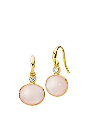 Candy Earrings - SHINY GOLD, PINK
