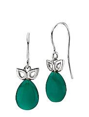 Scarlet - RHODIUM PLATED STERLING SILVER, GREEN