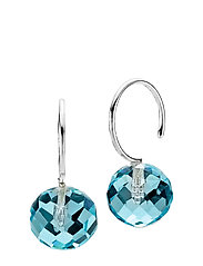 Marble - RHODIUM PLATED STERLING SILVER, AQUA