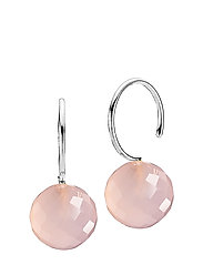 Marble - RHODIUM PLATED STERLING SILVER, PINK