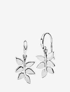 Poetry Earrings - hängande örhängen - shiny silver