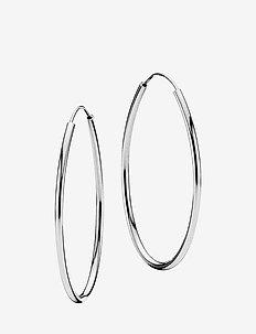Flaming medium earrings - hoops - shiny silver