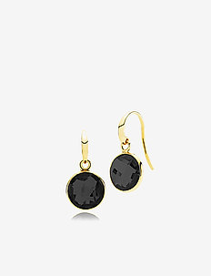 Prima Donna Earrings - SHINY SILVER, BLACK