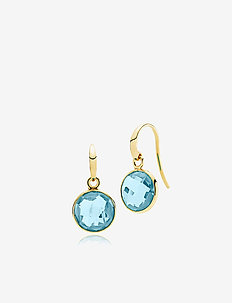 Prima Donna Earrings - SHINY GOLD - BLUE