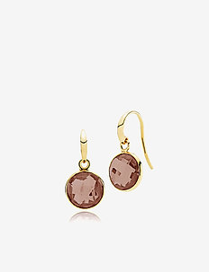 Prima Donna Earrings - SHINY GOLD - BROWN