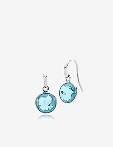 Prima Donna Earrings - SHINY SILVER - BLUE