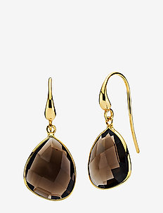 Orient Earrings - pendant - shiny gold