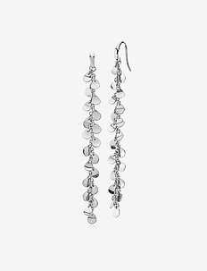 Robinia Large Earring - statement - shiny silver