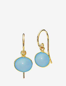 Candy Earrings small - SHINY GOLD, BLUE