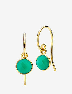 Prima Donna small - oorhangers - green onyx