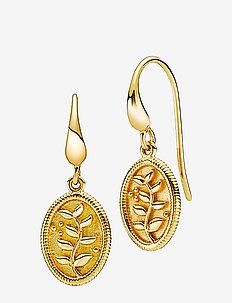 Anna - hängande örhängen - shiny gold