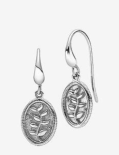 Anna - hängande örhängen - rhodium plated sterling silver