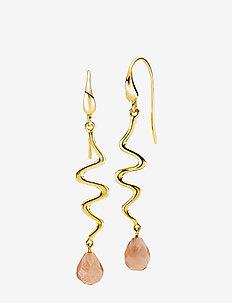 Saniya - pendant - shiny gold, peach