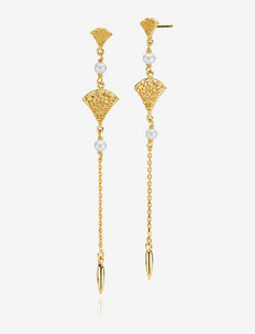 Bohemian - hängande örhängen - gold-plated silver