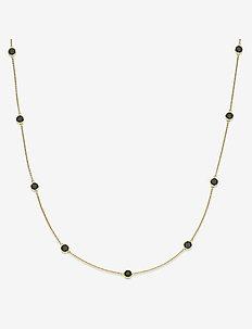 Prima Donna Necklace - SHINY GOLD, BLACK