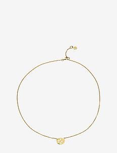 Hibiscus - halskæder - shiny gold