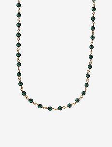 Miss Pearl - halskæder med vedhæng - shiny gold, green
