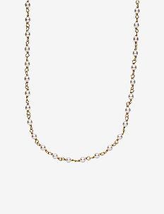Miss Pearl - halskæder - shiny gold, white