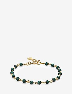 Miss Pearl - dainty - shiny gold, green