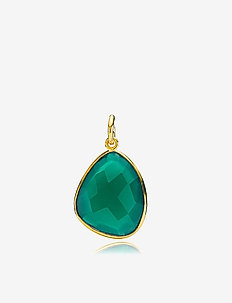 Orient Pendant - pendants - shiny gold, green